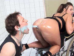 Kinky German brunette with a big booty enjoys a fantastic