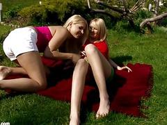 Strawberry Seduction by Sapphic Erotica  lesbian love porn with Rikki  Antonia