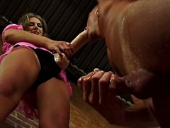 Brooke banner fucks a guy with a strapon