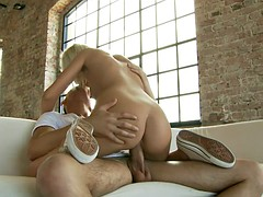 Blonde rammed hard flat-chested