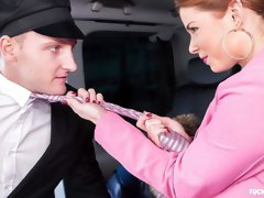 Naughty Czech babe Chrissy Fox craves a good fuck in the car