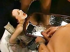 Total porn whore takes piss and jizz