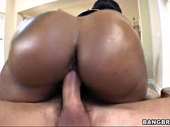 cherokee d ass plants her big and juicy ass on his cock and rides it