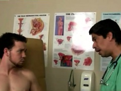 Physical examination for male gay His man-meat was rock rigi