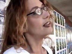 Slutty blonde MILF spreads her legs and gets fucked hard