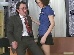 Mature teacher fucks nasty playgirl senseless