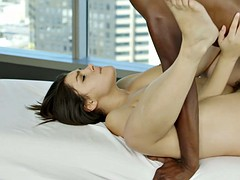 sexy italian girl valentina nappi taking black meat with passion