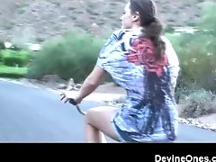 Tori Black goes for a ride