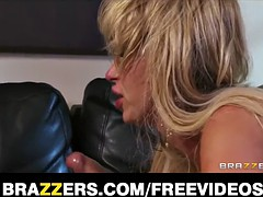 Two blond girlfriends have a foursome with its neighbors