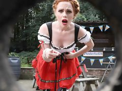 Ella Hughes is busy rehearsing with her dance partner for the big Oktoberfest event when delivery man Danny D drops off a large decorative keg
