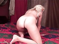 Milf has perfect big natural tits in a solo porn video