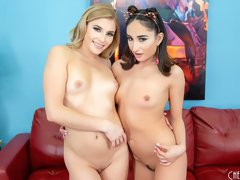 Two babes Isabella Nice and Nikki Peach are getting tons of pleasure