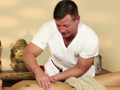 Very tricky massage room of sleek masseur