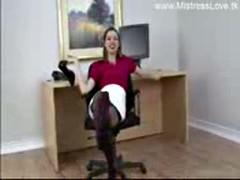 secretary feet femdom