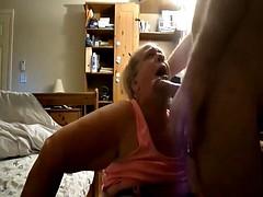 Granny head # 52 down the old hag es windpipe