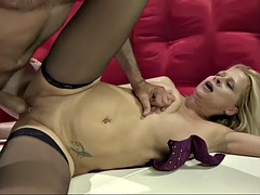 payton is a 65 yo blonde granny that gets young stud's fresh cock in her jurassic pussy