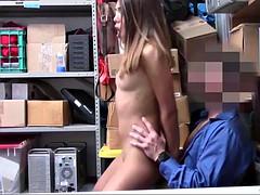 latina suspect got fucked at the backroom office