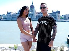 Asian angel May Thai gives her boyfriend a passionate rimjob