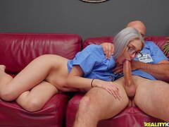 Nurse with big tits, harsh sex with fellow doctor