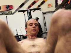 Muscled amateurs naked