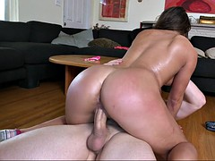 bella danger did a split on the dick, bouncing that sexy ass of hers