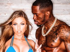 Gorgeous busty model Britney Amber fucked by a big black dick