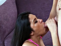Asian milf cocksucking before getting face