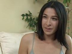 Tranny Alexa Scout dick sucked by a guy