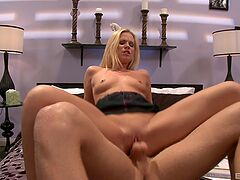 Naked blonde loves the dick so hard and deep in her