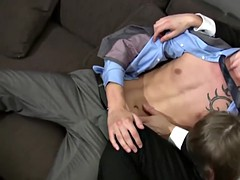 nasty and sexy twink enjoys while sucking this fat cock