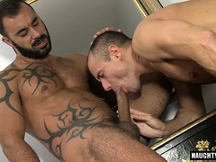 European bear oral sex with cumshot