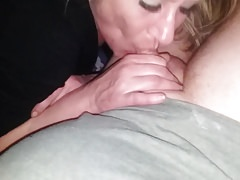 Blondie sucking it up
