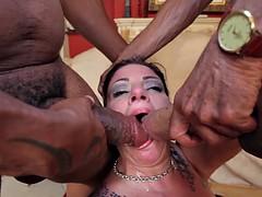 Fat bitch double penetration
