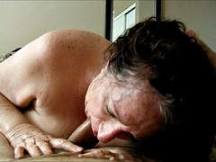Granny sucking his cock pov