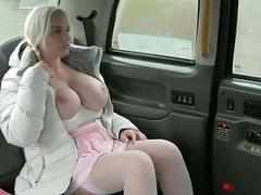 Huge tits babe screwed up for free fare