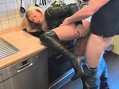 naughty-hotties.net - sweet blonde hot outfit quickie w neig