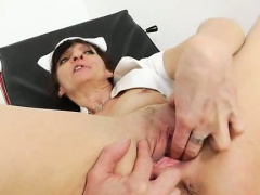 Brunette orgasmic wife nurse