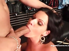 Angelina Castro is ravaging a fellow she has just encountered and liking every 2nd of it