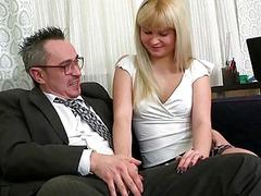 Young angel is being ravished by a aged fellow