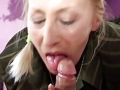 Granny from 90s excites young dancer with blowjob and gets licked