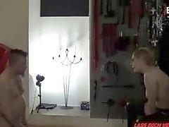 Femdom Deutscher mistress has anal training with slaves BDSM porn
