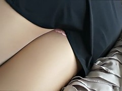 pantyhose teasing lady