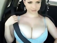 Big breasts rally racing Minda from 1fuckdatecom