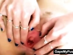 Young Teen Has Speculum Pussy Hole Stretching