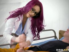 Sweet redhead angel Monique Alexander screwed by a giant dick