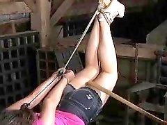 Tied up skank is eager to get punished BDSM porn