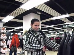 Luscious czech cutie gets tempted in the mall and penetrated