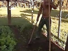 Beautiful Latina shemale housewife gets ass-fucked by her BBC gardener