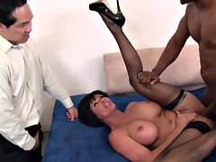 Brunette wife takes a big black cock