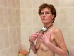Granny Shaves Her Cock Hungry Pussy